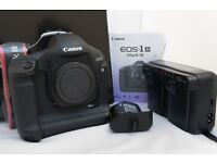 CANON EOS 1D MK III DIGITAL SLR CAMERA BODY WITH CANON BATTERIES AND CHARGER