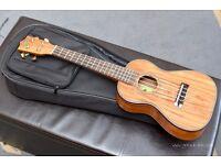 Amumu all solid acacia ukulele with bag - BRAND NEW