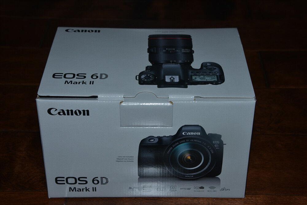 BRAND NEW Canon EOS 6D Mark II Digital SLR Camera Body