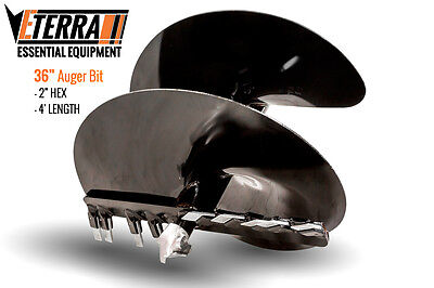 Eterra Auger Bit - 36 - Fits Skid Steer Excavator Mini Skid Auger Attachment