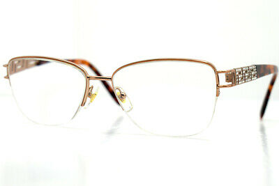 Versace Womens Glasses Frames Spectacles 1220-B Silver Brown