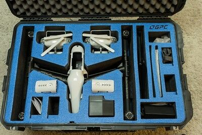 Dji inspire 1 T600 drone with GoProfessional case, 2 batteries, 2 controllers