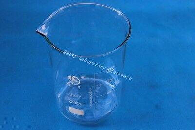 2000ml 2l Lab Glass Beaker Wide Mouth International Standard Pyrex Glass