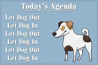 Jack Russell Terrier Dog Funny Fridge Magnet Birthday Christmas Gift parson