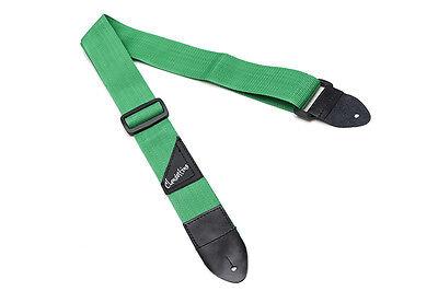 Correa verde para guitarra eléctrica o bajo - Green Strap for electric...