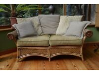 Cane sofa & chair, suitable conservatory