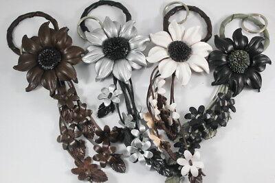 Sunflower Daisy Flower Keychain Genuine Leather Handbag Charm Snap White - Daisy Keychain