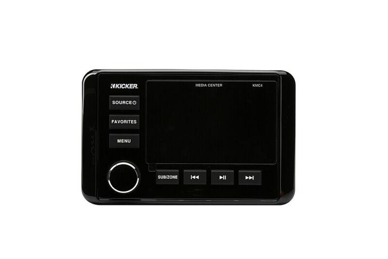 Kicker KMC2 Gauge-Style Media Center/Radio w/Bluetooth - black