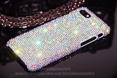 buy online e7db9 e6857 Details about For iPhone 7 8 Plus X Amazing Case Bling Diamond Real Crystal  Rhinestone Cover