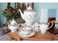 Vintage Fine China Coffee/Tea Set 11 Pieces (New)