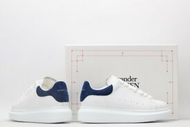 Alexander McQueen white blue suede heel (ask for size)