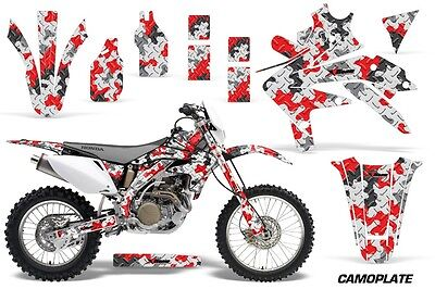 Dirt Bike Decal Graphics Kit Sticker Wrap For Honda CRF450X 2005-2016 CAMO RED