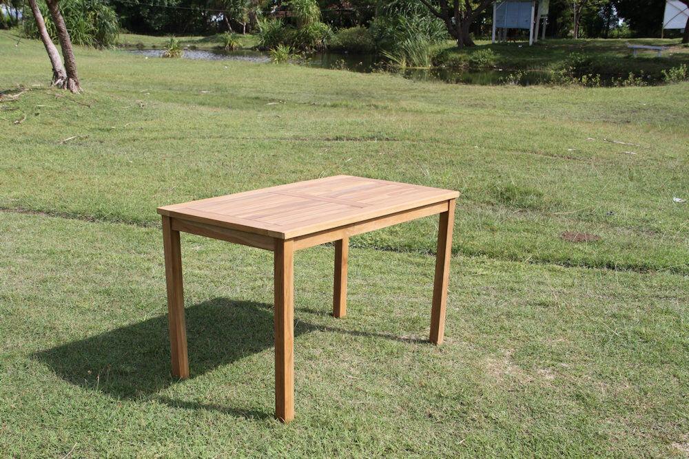 Teak Tisch - massiver Tisch 70x120