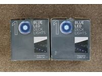 2 Sets of Blue LED Deck Lights *BRAND NEW IN THE BOX* 10 Lights in each box
