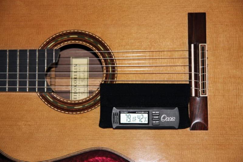Oasis Hygrometer Holder for Guitar