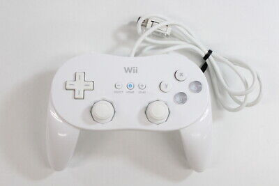 Nintendo Wii Classic Controller Pro White RVL-005(-02) Pad U Japan Import WC08 A
