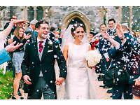 Wedding Photographer for £400 plus a Free Personalised Wedding Logo