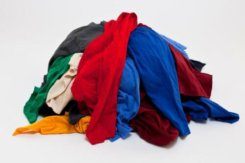 25 LB of Assorted T-Shirts Wiping Cloth Shop Rags for Home, Work, Garage Rags