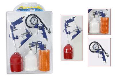 Set utensili ad aria compressa compressore 5 pz aerografo gonfiatore manometro