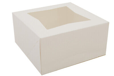 6x6x3 White Automatic Bakery Box With Window Bright White 200case