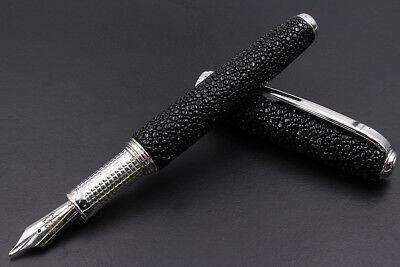 Marine Stingray & 925 Silver Thetis Fountain Pen F Nib Cartridge & Converter