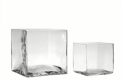 Vaso quadrato in vetro grande, più misure - vaso decorativo