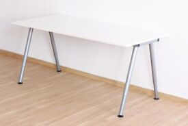 Ikea Desk (Thyge) White/silver colour 160x80cm