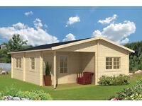 6m x 7m luxury log cabin
