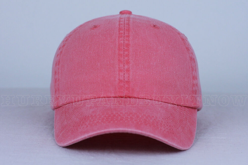CORAL blank DAD CAP HAT  fashion custom wholesale bulk style