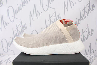 quality design 04aa8 39760 ADIDAS ORIGINALS WOMENS NMD CS2 PRIMEKNIT SZ 5 LINEN GREY CLOUD WHITE CQ2039
