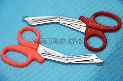 New 2 Premium Paramedic Utility Bandage Trauma Emt Ems Shears Scissors 5.5 Inch