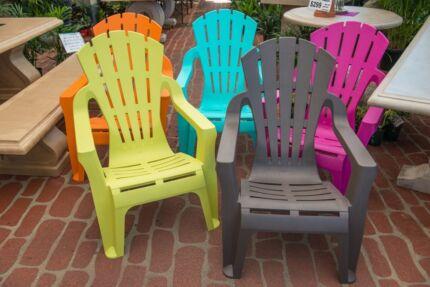 Outdoor Garden Patio Furniture Plastic Chair Adirondack Seat