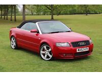 AUDI A4 SPORT CONVERTIBLE 3.0 V6 AUTOMATIC SPARES OR REPAIRS IMMOBILIZER FAULT 2 OWNERS FULL HISTORY