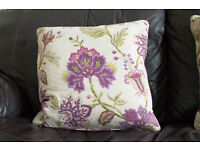 Set of Four Dorma Bloomsbury Plum Cushions.