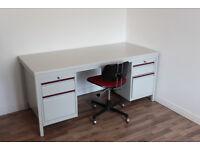 Vintage and industrial metal desk £50