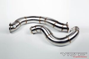 """VRSF 3"""" Cast Stainless Steel Catless Downpipes V2 N54 07-10 BMW"""