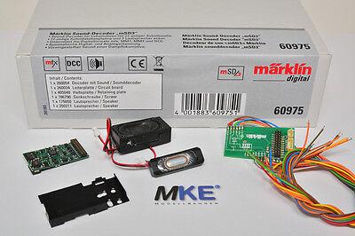 Märklin 60975 mSD3 Sounddecoder mfx Mot & DCC mit Einbausatz MTC 21pol NEU & OVP online kaufen
