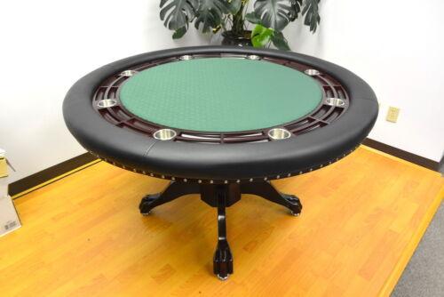 MRC Poker Table THE MYSTIC Round Mahogany Color