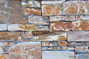 Stack Stone Wall Cladding / Feature Wall - Mountain Gold