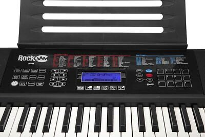 Keyboard RockJam Klaviersatz 61 Tasten Elektro Digital Piano Instrument schwarz