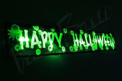 Flashing Halloween decoration sign 3FT prop light up party spider pumpkin led
