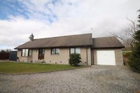 3 Bed Detached House with total for 2 lots appox 3.5 Acres land large shed 10 min from Inverurie