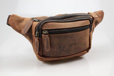 Bay Leder Tasche (Premium Leder Gürteltasche Bauchtasche von Bayern Bag Hunter Collection)