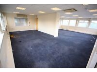 737 sq ft office + 500 sq ft communal space available, glasgow, right next to motorway