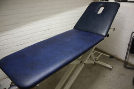 Akron 8321 Hydraulic Therapist Couch, Medium, Used in Acupuncture Clinic, Very Good Condition