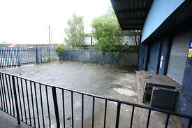 Yard with small Unit, car van sales hire site, 1 min from M74, glasgow, near southside