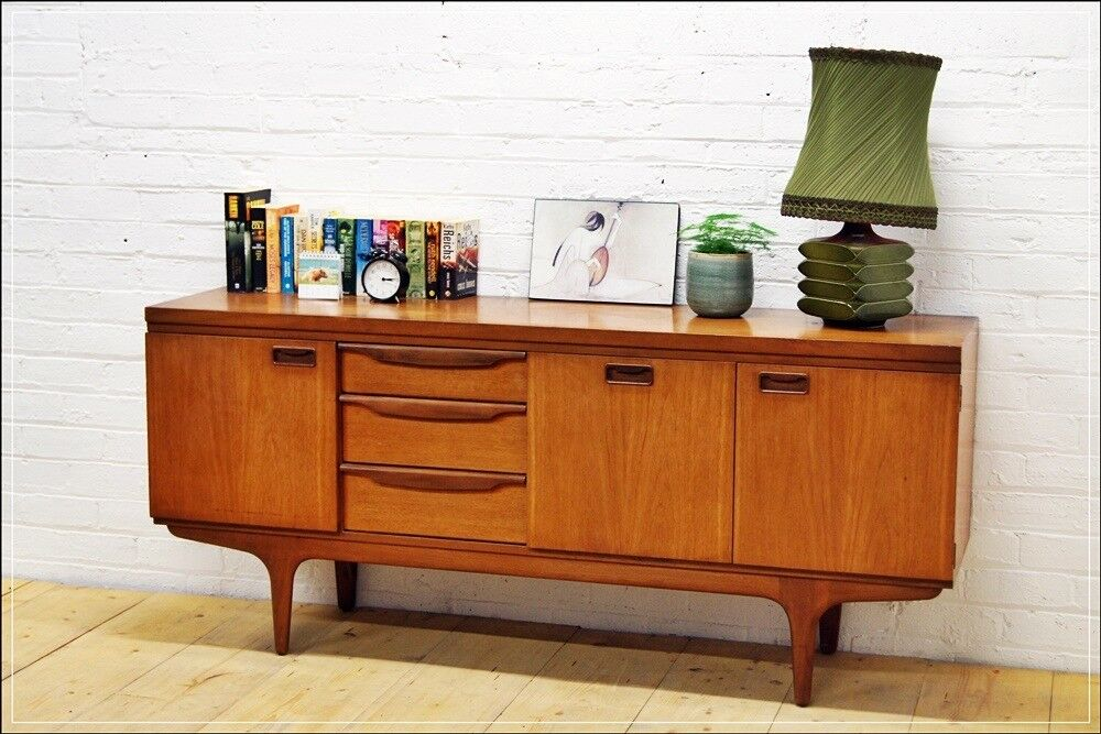 Vintage Sideboard Teak Mid Century Danish Design By Greaves Thomas