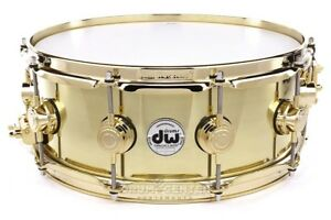 DW Collectors Bell Brass Snare Drum 14x5.5 Gold Hw