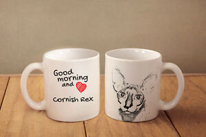 Cornish Rex - ceramic cup, mug &quot;Good morning and love &quot;, CA - <span itemprop='availableAtOrFrom'>Zary, Polska</span> - Cornish Rex - ceramic cup, mug &quot;Good morning and love &quot;, CA - Zary, Polska