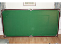 Only £20! Living Room Pool Table with cues, balls, chalk - needs some TLC - good project!